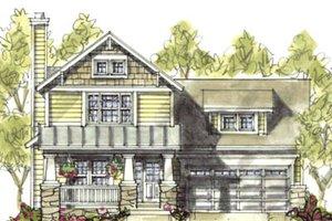 Craftsman Exterior - Front Elevation Plan #20-1219