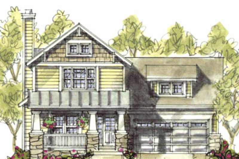 Craftsman Exterior - Front Elevation Plan #20-1219