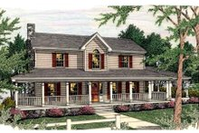 Architectural House Design - Farmhouse Exterior - Front Elevation Plan #406-219