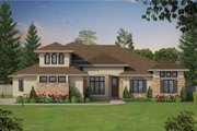 European Style House Plan - 4 Beds 4 Baths 3015 Sq/Ft Plan #20-2361 Exterior - Front Elevation