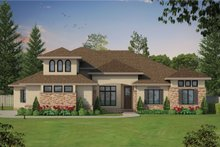 Dream House Plan - European Exterior - Front Elevation Plan #20-2361