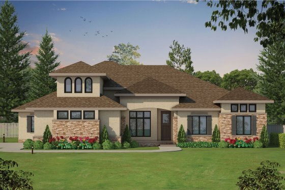European Exterior - Front Elevation Plan #20-2361
