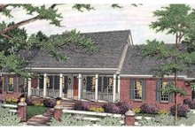 Southern Exterior - Front Elevation Plan #406-293