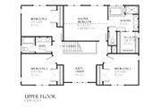 Traditional Style House Plan - 4 Beds 2.5 Baths 2810 Sq/Ft Plan #901-89 Floor Plan - Upper Floor