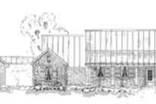 Southern Exterior - Front Elevation Plan #410-215