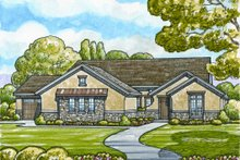 Dream House Plan - European Exterior - Front Elevation Plan #20-2071