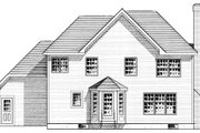European Style House Plan - 3 Beds 2.5 Baths 1873 Sq/Ft Plan #316-116 Exterior - Rear Elevation