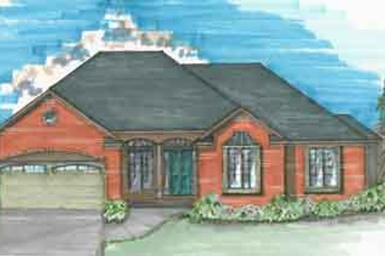 Traditional Exterior - Front Elevation Plan #136-105