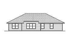 House Design - Traditional Exterior - Rear Elevation Plan #84-454
