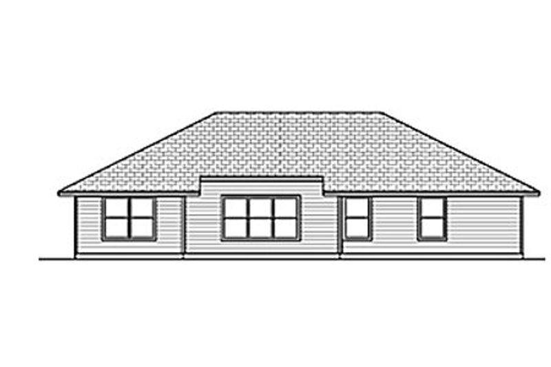 Traditional Exterior - Rear Elevation Plan #84-454 - Houseplans.com