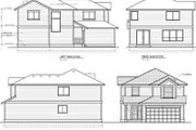 Traditional Style House Plan - 3 Beds 2.5 Baths 1662 Sq/Ft Plan #100-401