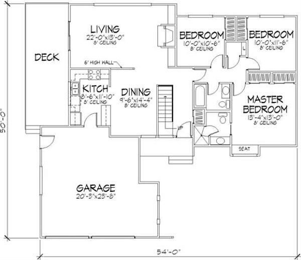 Ranch Floor Plan - Main Floor Plan #320-146