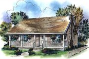 Country Style House Plan - 2 Beds 1 Baths 900 Sq/Ft Plan #18-1027 Exterior - Front Elevation