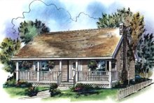 Country Exterior - Front Elevation Plan #18-1027