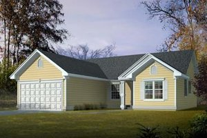 House Plan Design - Ranch Exterior - Front Elevation Plan #100-412