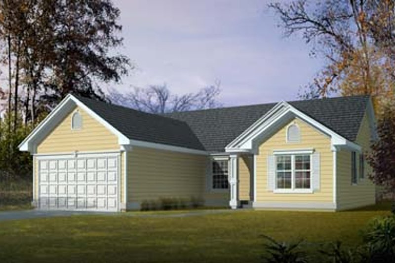 Ranch Exterior - Front Elevation Plan #100-412