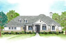 Mediterranean Exterior - Front Elevation Plan #80-122