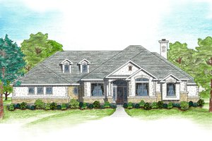 Architectural House Design - Mediterranean Exterior - Front Elevation Plan #80-122
