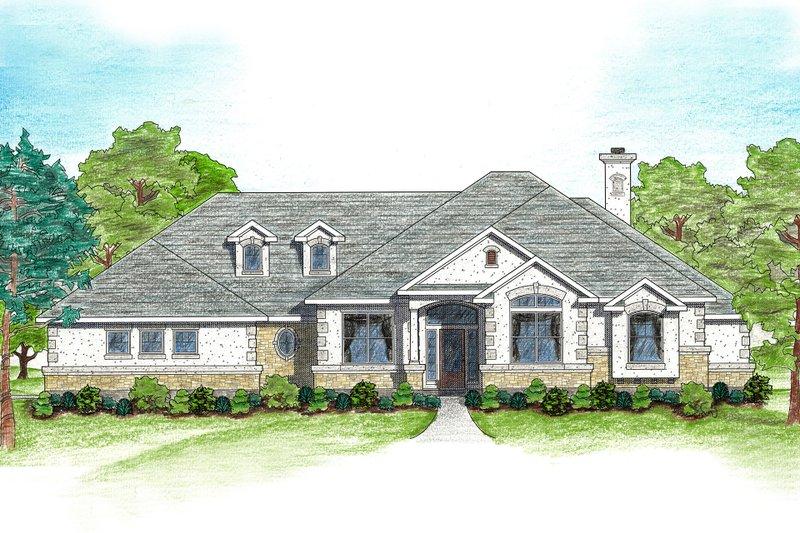 Architectural House Design - Mediterranean Exterior - Front Elevation Plan #80-122