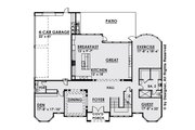 Classical Style House Plan - 5 Beds 7 Baths 6765 Sq/Ft Plan #1066-29 Floor Plan - Main Floor Plan