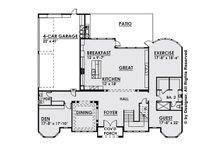 Classical Floor Plan - Main Floor Plan Plan #1066-29