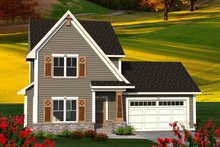 Dream House Plan - Traditional Exterior - Front Elevation Plan #70-1187