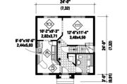 European Style House Plan - 3 Beds 1 Baths 1163 Sq/Ft Plan #25-4726 Floor Plan - Main Floor Plan