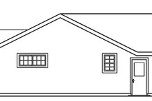Craftsman Exterior - Rear Elevation Plan #124-725