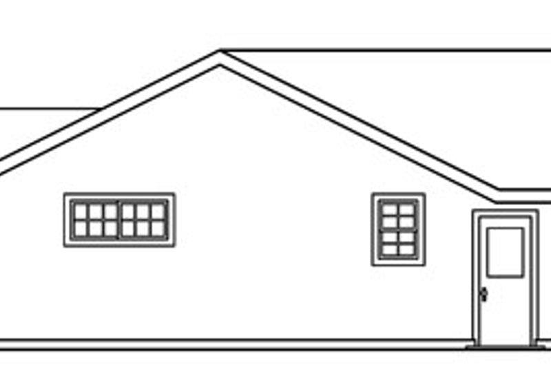 Craftsman Exterior - Rear Elevation Plan #124-725 - Houseplans.com