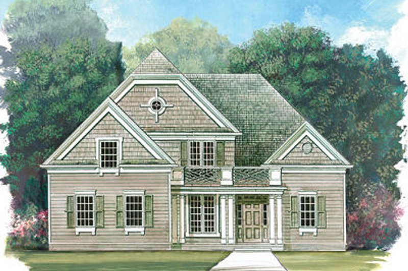 Architectural House Design - Colonial Exterior - Front Elevation Plan #119-258