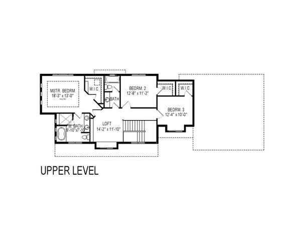 Craftsman Floor Plan - Upper Floor Plan Plan #920-9