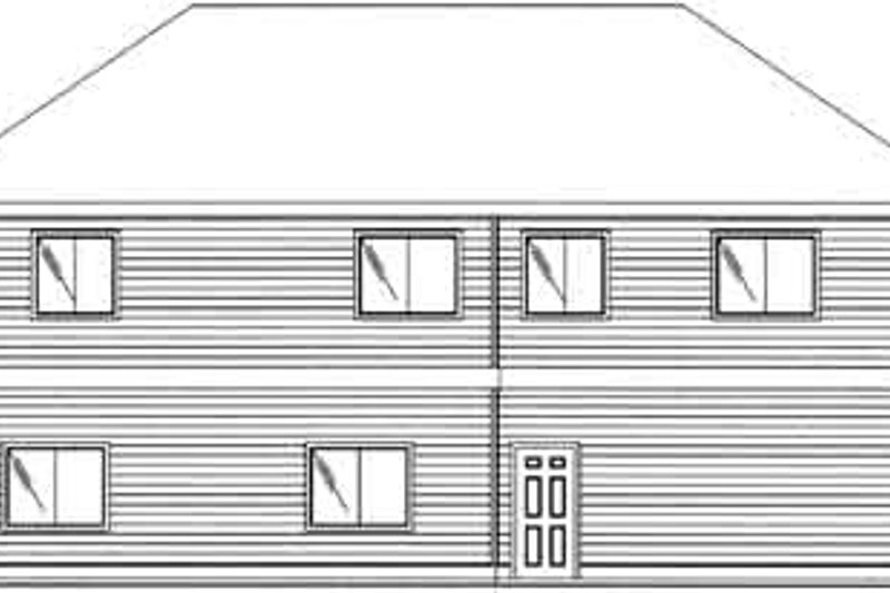 Traditional Exterior - Rear Elevation Plan #117-478 - Houseplans.com