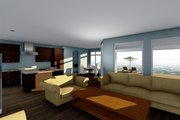 Beach Style House Plan - 4 Beds 3 Baths 2526 Sq/Ft Plan #455-210 Interior - Kitchen