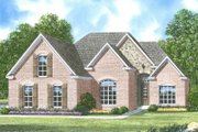 European Style House Plan - 3 Beds 2 Baths 1877 Sq/Ft Plan #424-296 Exterior - Front Elevation