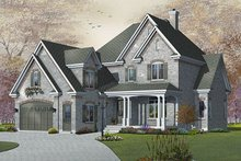 Victorian Exterior - Front Elevation Plan #23-842