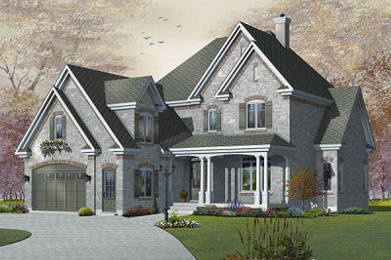 Architectural House Design - Victorian Exterior - Front Elevation Plan #23-842