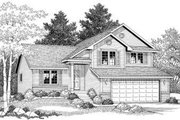 Traditional Style House Plan - 3 Beds 2.5 Baths 1672 Sq/Ft Plan #70-598 Exterior - Front Elevation