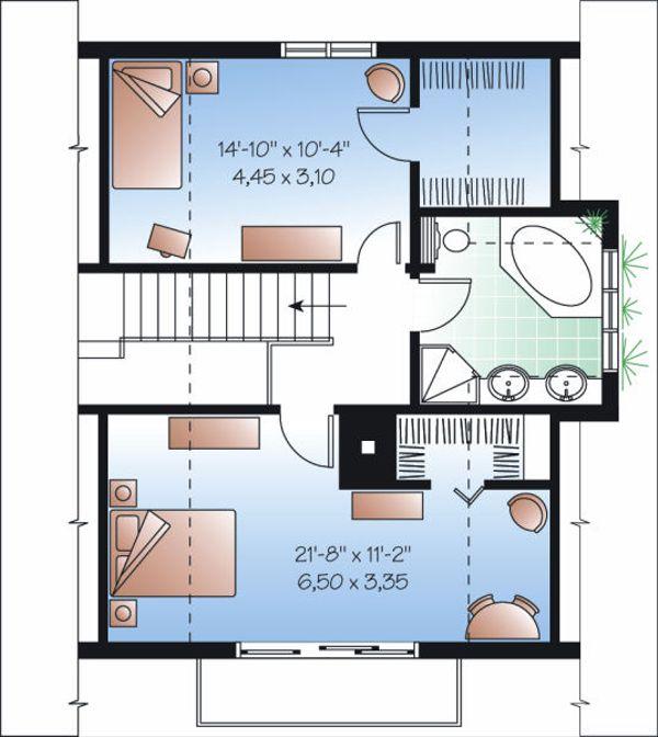 European Floor Plan - Upper Floor Plan Plan #23-868