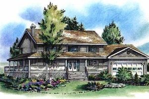 Country Exterior - Front Elevation Plan #18-260