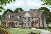 European Style House Plan - 5 Beds 4.5 Baths 5796 Sq/Ft Plan #413-125 Exterior - Front Elevation