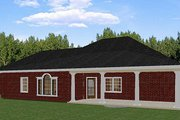European Style House Plan - 5 Beds 3 Baths 2550 Sq/Ft Plan #44-157 Exterior - Rear Elevation