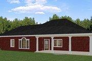 European Style House Plan - 5 Beds 3 Baths 2550 Sq/Ft Plan #44-157 Exterior - Rear Elevation