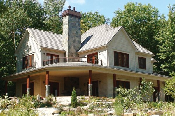 Dream House Plan - Canadian country style house farm home front photo