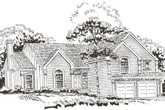 Country Exterior - Front Elevation Plan #405-204