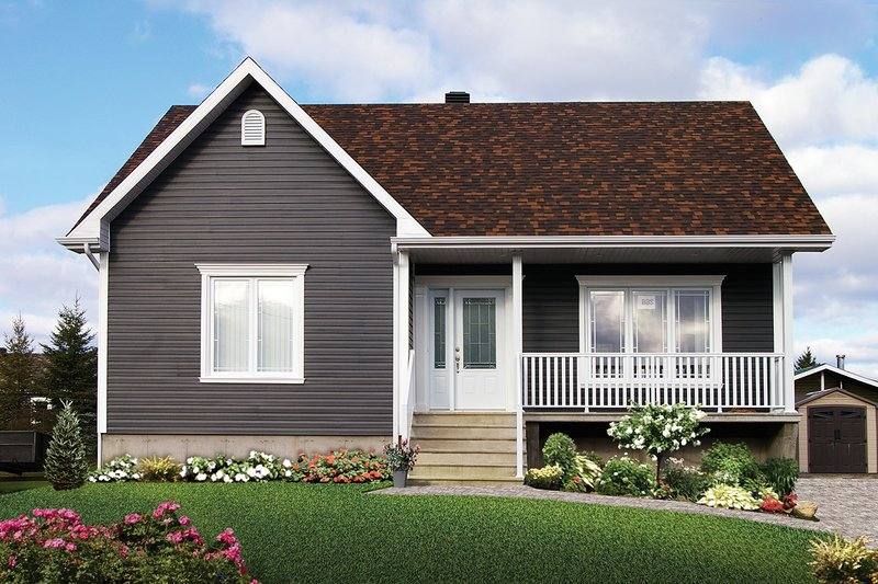 Architectural House Design - Country Exterior - Front Elevation Plan #23-2413