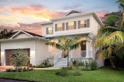 Beach Style House Plan - 3 Beds 2.5 Baths 1830 Sq/Ft Plan #938-108 Exterior - Front Elevation