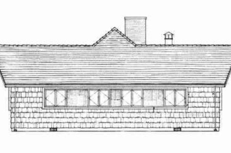 Contemporary Exterior - Rear Elevation Plan #72-298 - Houseplans.com