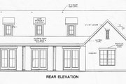 Country Style House Plan - 2 Beds 2 Baths 1588 Sq/Ft Plan #472-11 Exterior - Rear Elevation