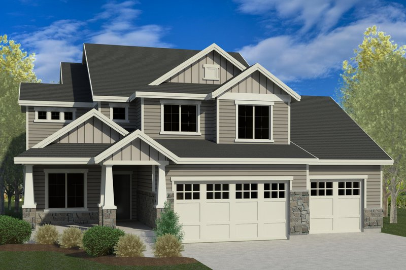 Dream House Plan - Traditional Exterior - Front Elevation Plan #920-92