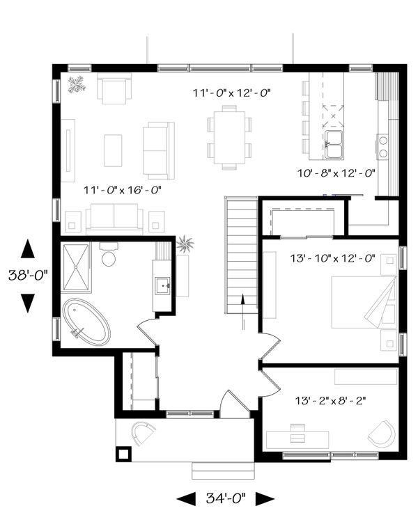 Modern Floor Plan - Main Floor Plan Plan #23-2638